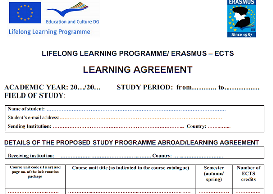 Learning Agreement Esn Slovakia